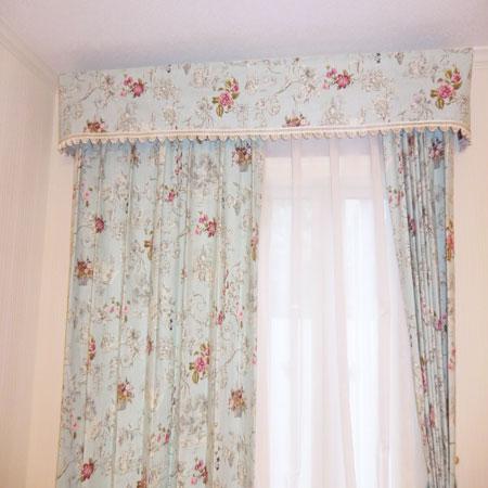 イングランド製花柄カーテン