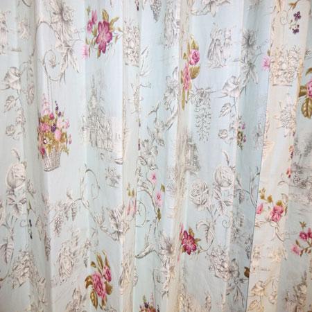 綺麗な花柄のオーダーカーテン