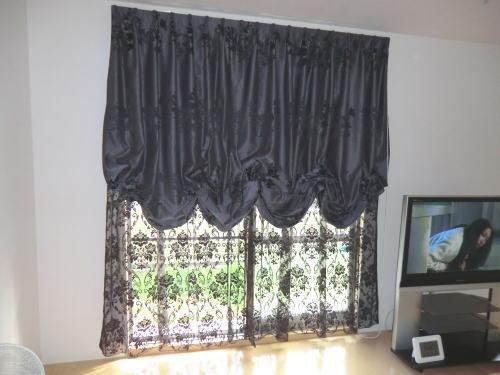 バルーンシェードカーテン