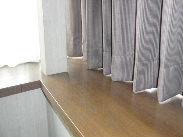 裾はきっちり仕上げカーテン