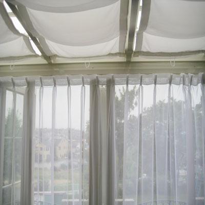 紫外線UVカット加工機能付きレースカーテン