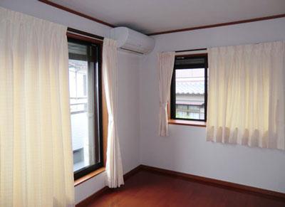 洋室にドレープカーテン納品