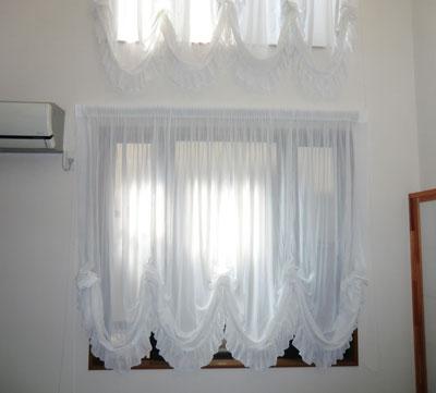 紫外線UVカット加工機能レースカーテン