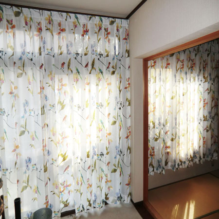 ボイルレースカーテン