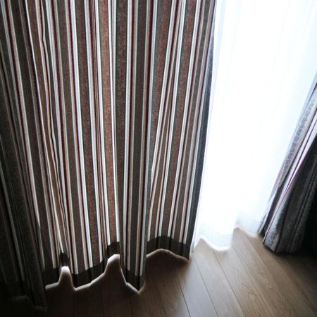 厚手とレースカーテン