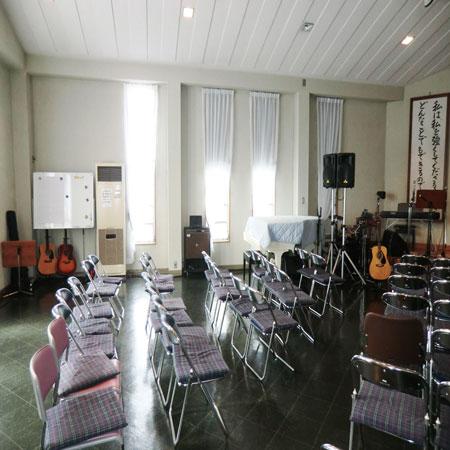 ボイルレースカーテンを京都府長岡京市の教会へ納品しました
