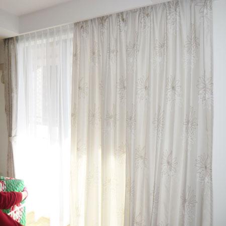 集合住宅にカーテン納品