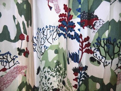 綿100%素材のカーテンファブリックカーテン