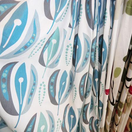 北欧の個性的なデザインカーテン