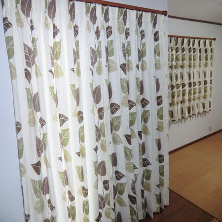 花柄のオーダーカーテン