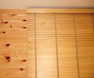 木製ブラインド正面付け