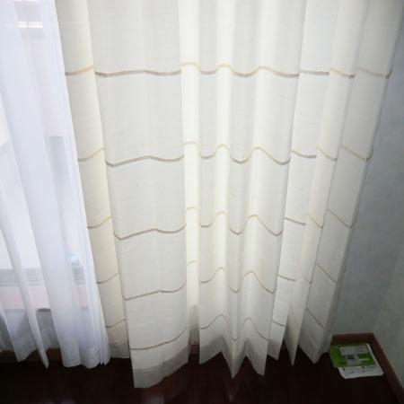 ホワイトカラーのオーダーカーテン