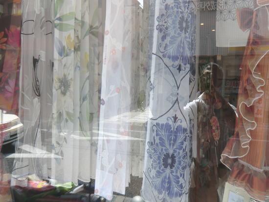 店内カーテンサンプル(京都のカーテン専門店ジョイリビングイトオ)