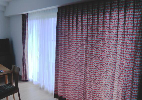滋賀県大津市のマンションにオーダーカーテン