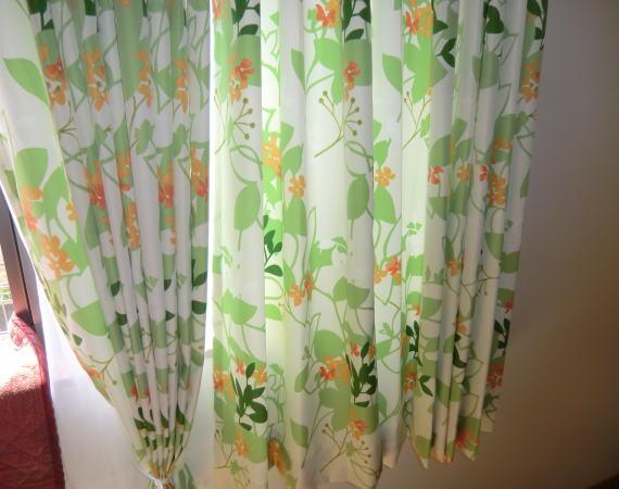 花柄オーダーカーテン