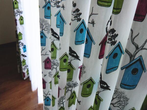 丁寧に縫製されたオーダーカーテン