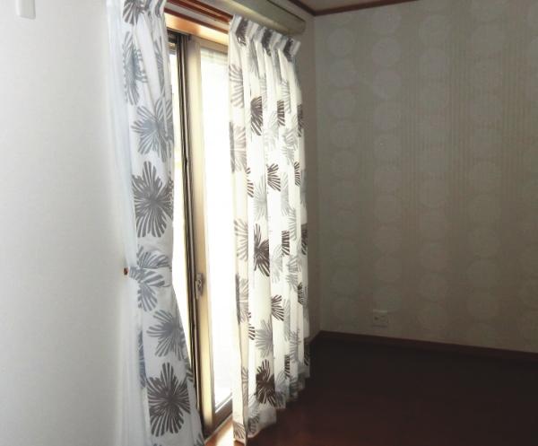 掃き出し窓へオーダーカーテン納品