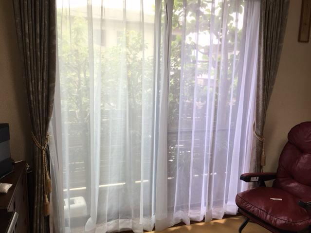 オーガンジーレースカーテン(京都西京区桂坂納品)