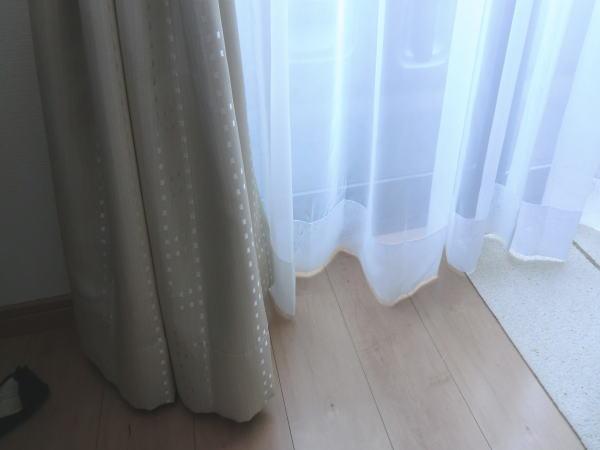 掃き出し窓もピッたりサイズオーダー納品