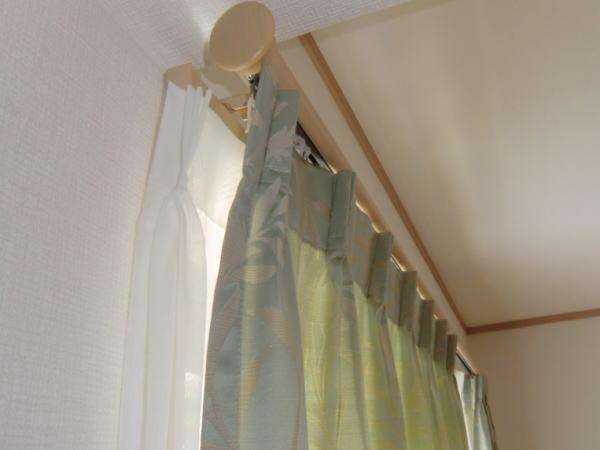 レガート装飾レールにオーダーカーテン