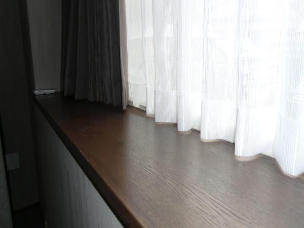 両開きのカーテン仕上げ加工