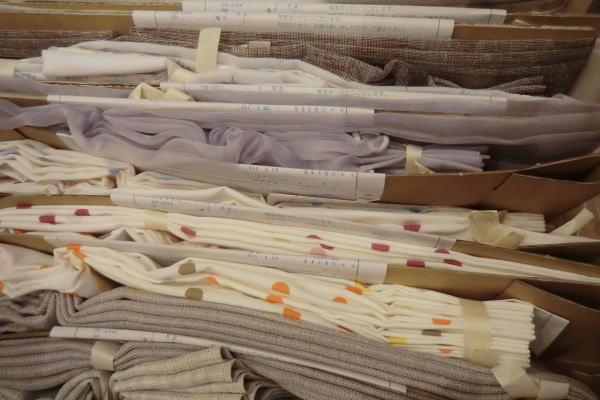 川嶋織物セルコンオーダーカーテン吊り見本入荷