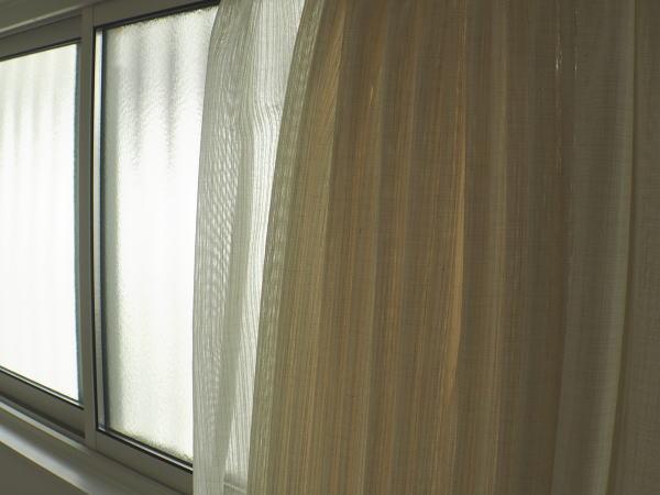 高窓へレースカーテン納品