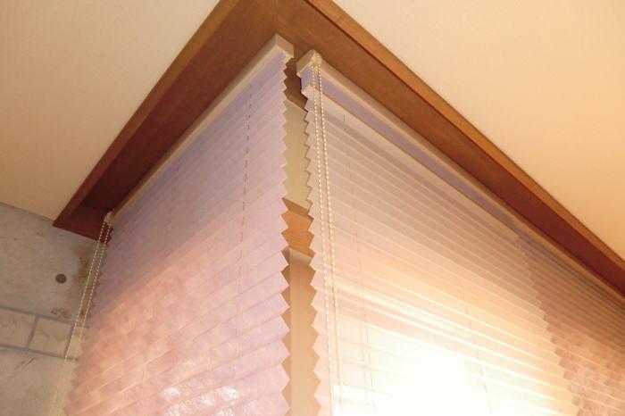 プリーツスクリーンをカーテンボックス内天井付け納品