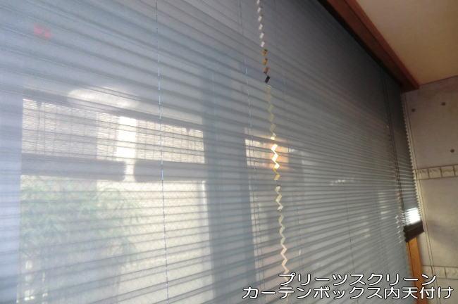 カーテンボックス内天井付け(プリーツスクリーン)