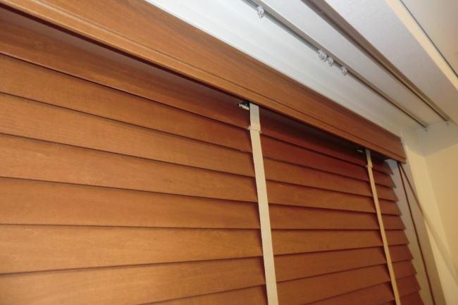 ウッドブラインド納品(京都西京区マンション、リビング窓廻り)
