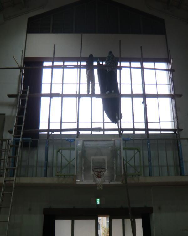 京都市内の教育機関施設へオーダーカーテン納品