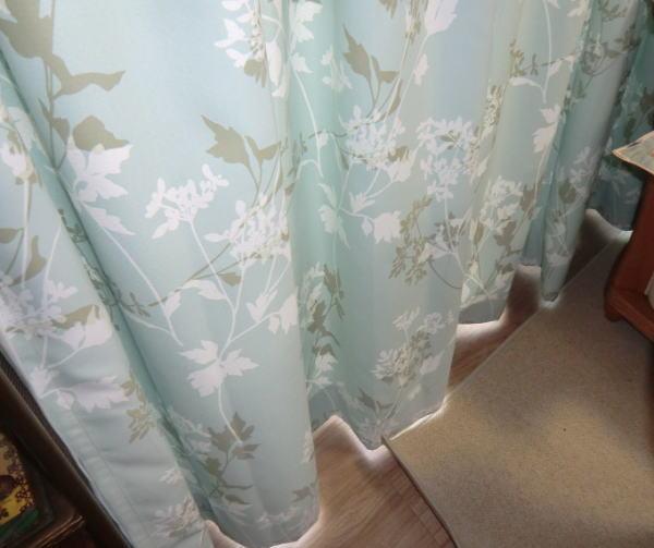 丁寧に縫製されたオーダーカーテン(京都府長岡京市、マンション、リビング内)