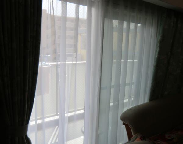 オーガンジーレースカーテンも同時納品(京都府長岡京市ユーザー様邸)