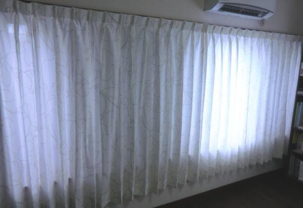 スミノエ社花柄オーダーカーテンの納品