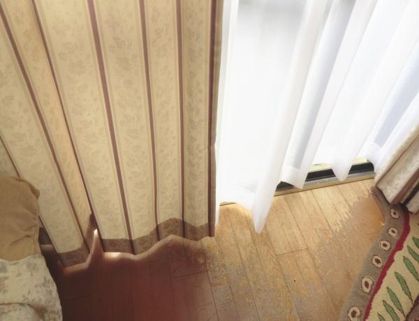 リビング掃き出し窓へオーダーカーテン納品