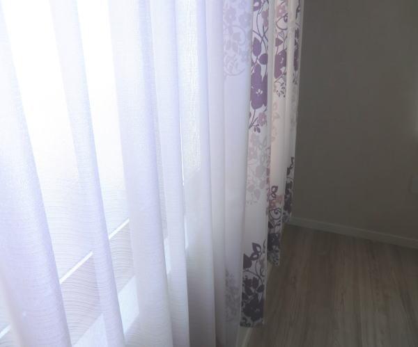 オーガンジーレースカーテン新築住宅納品
