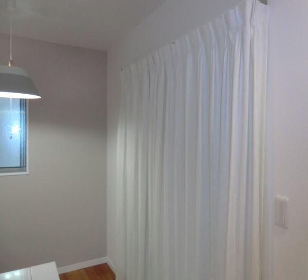 京都府向日市内の住宅へオーダーカーテン納品