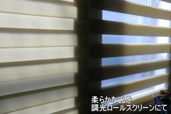 光を自在に調整する調光ロールスクリーン