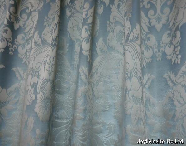 東リ社製、淡いブルー色のオーダーカーテン納品(京都府長岡京市、マンション)