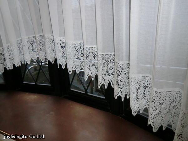 フレンジ付きアーチスタイルカーテン納品