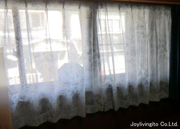 透け感が素敵なレース+厚手カーテン納品(京都戸建て住宅)