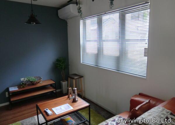 ブルックリンスタイルの戸建て住宅へ、アルミブラインド、調光ロールスクリーン取り付け納品