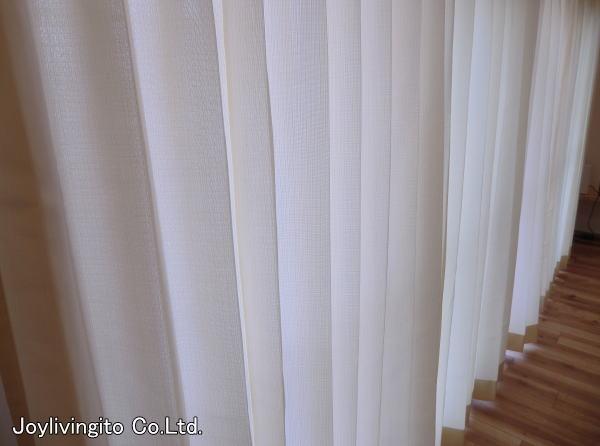 レースカーテンはお洗濯可能の、ボイルレースカーテン。