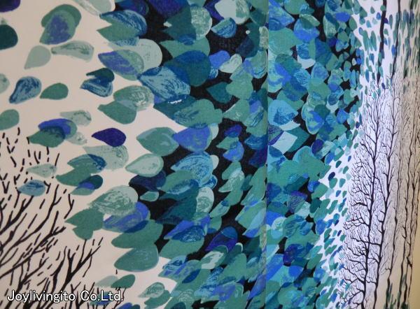 トルコブルーの発色が綺麗な色彩を醸し出す北欧カーテンVALLILA)
