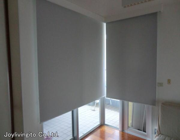 L字型窓へのロールスクリーン納品